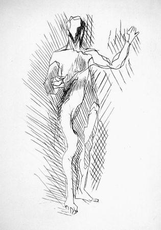 Acquaforte Villon - Homme debout