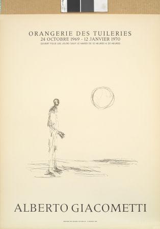 Litografia Giacometti - Homme debout et soleil
