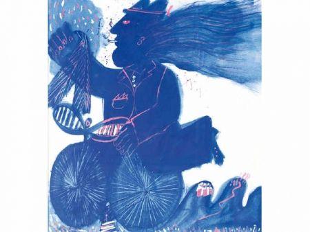 Non Tecnico Fassianos - Homme et bicyclette bleue