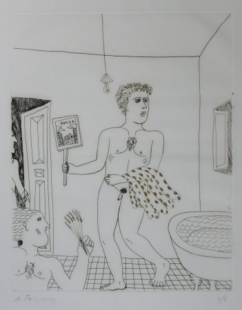 Punta Secca Fassianos - Homme sortant du bain