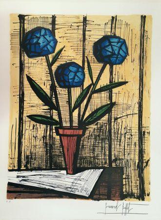 Litografia Buffet - Hortensias Bleus