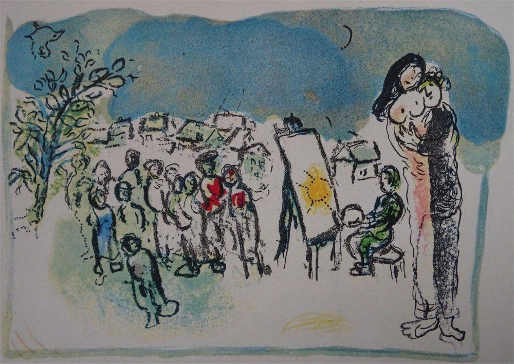 Litografia Chagall - Humanisme actif