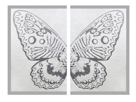 Multiplo Robierb - Hybrid Silver Butterfly ll on White