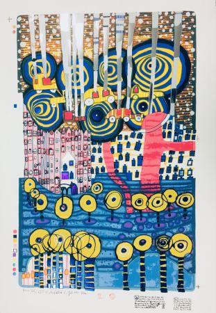 Serigrafia Hundertwasser - I FIOR, SEGRETI DEL REI, LES FLEURS SECRETES DU ROI, DIE BLUMEN DES KÖNIG