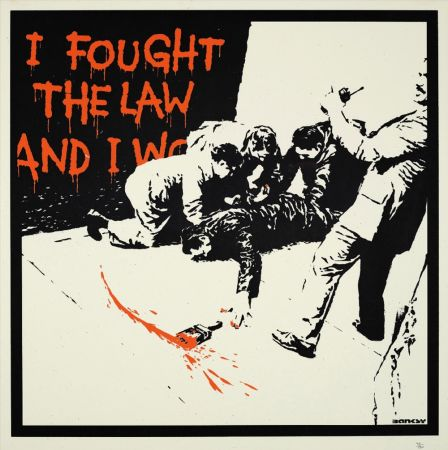 Serigrafia Banksy - I FOUGHT THE LAW
