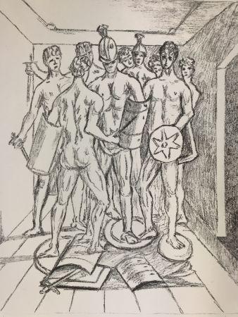 Litografia De Chirico - I gladiatori