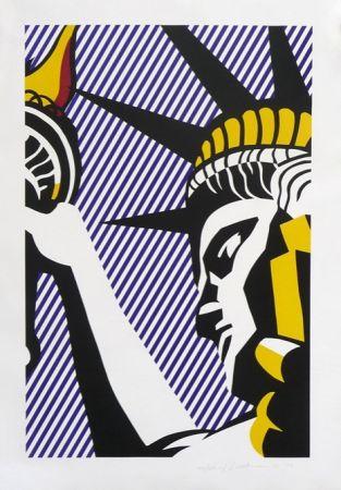 Serigrafia Lichtenstein - I Love Liberty
