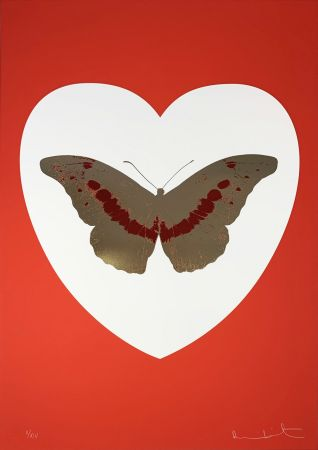 Serigrafia Hirst - I Love You - White/Red/Cool Gold/Poppy Red