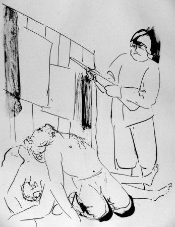 Litografia Manzu - I martiri di Piazza Loreto