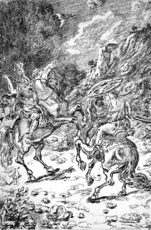 Litografia De Chirico - I nictomachi