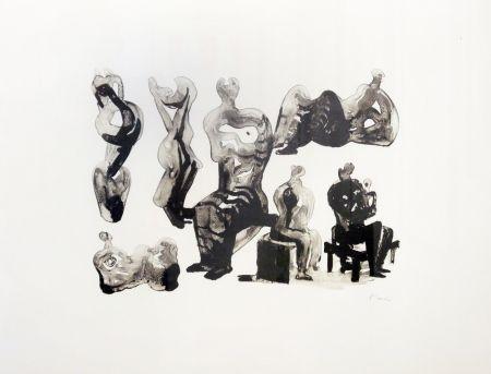 Litografia Moore - Ideas for sculptures C. 365