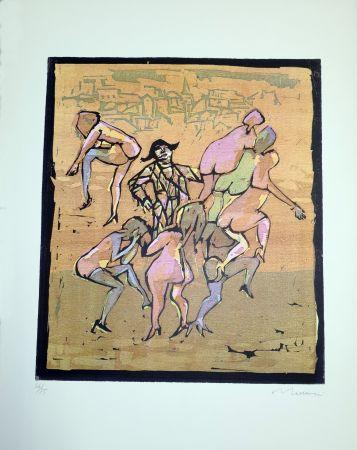 Linoincisione Maccari - Il balletto