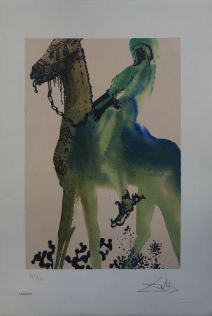 Litografia Dali - Il Cavaliere Nero