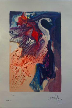 Litografia Dali - Il Cigno