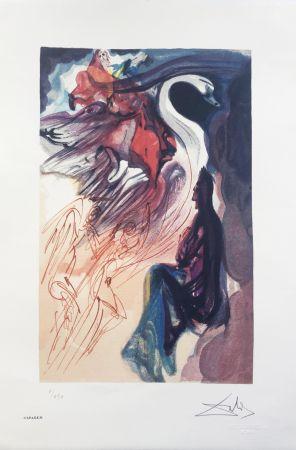 Litografia Dali - Il Cigno INTERGRAFICA 38X56
