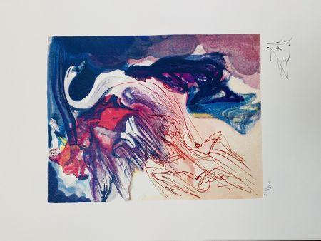 Litografia Dali - Il cigno (La Divina Commedia)