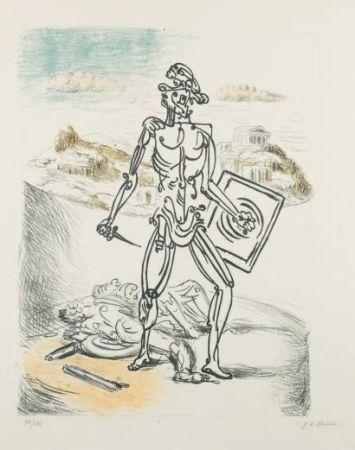 Litografia De Chirico - Il Gladiatore