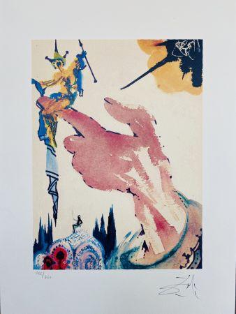 Litografia Dali - Il mago sul dito