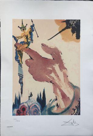 Litografia Dali - Il Mago sul Dito INTERGRAFICA 38X56
