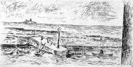 Acquaforte Carra - Il molo di Camogli