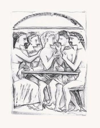 Litografia Campigli - Il Pasto (Theseus)