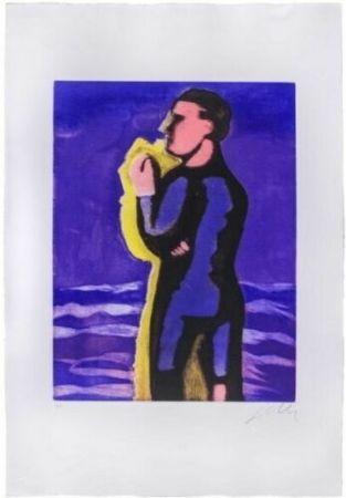 Acquatinta Chia - Il ragazzo e il mare