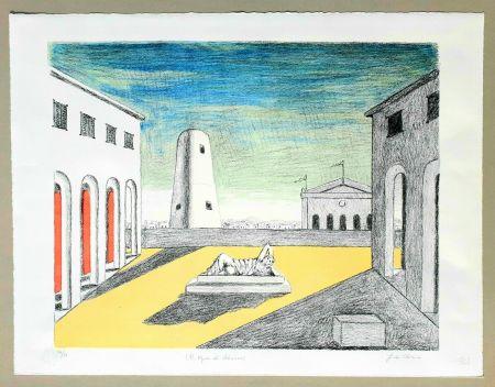 Litografia De Chirico - Il riposo di Arianna