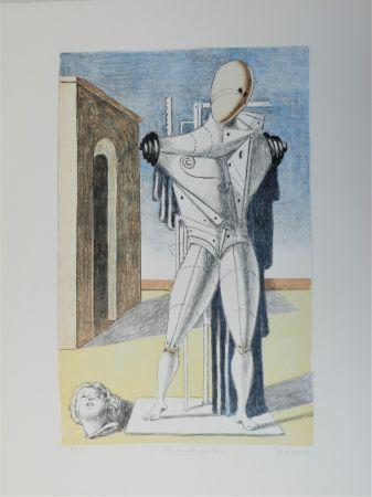 Litografia De Chirico - Il trovatore solitario