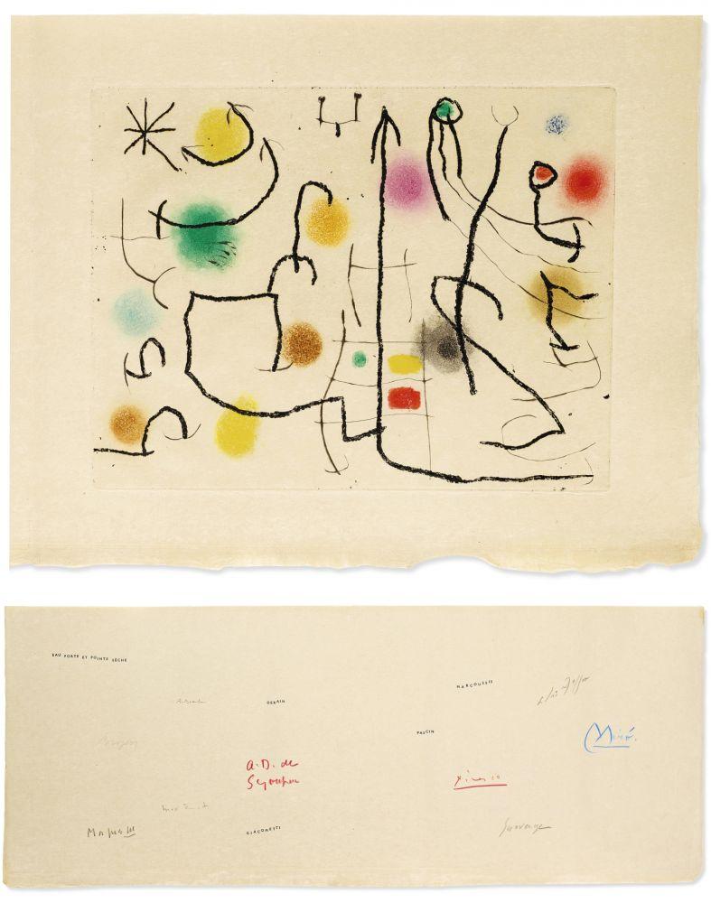 Libro Illustrato Miró - ILIAZD: HOMMAGE À ROGER LACOURIÈRE [Picasso, Miro, Giacometti...] 1968.