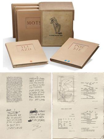 Libro Illustrato Picasso - ILIAZD (Ilia Zdanevitch, dit.) POÉSIE DE MOTS INCONNUS. Gravures de Picasso, Matisse, Braque, Miro, Léger, Chagall, Giacometti, etc. 1949.