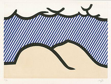 """Acquaforte E Acquatinta Lichtenstein - Illustration For """"De Denver Au Montana, Départ 27 Mai 1972"""" (I)"""