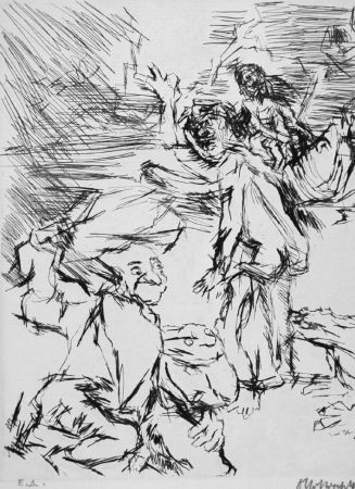 Acquaforte Kokoschka - Imaginares Bildnis des Aritophanes