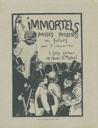 Litografia Vallotton - Immortels passés, présents ou futurs