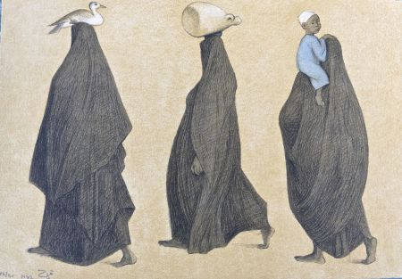 Litografia Zuniga - Impressions Of Egipto (Egypt) Plate 10
