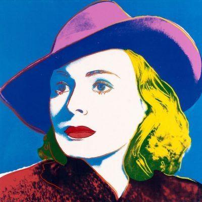 Serigrafia Warhol - Ingrid with Hat