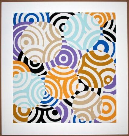 Incisione Su Legno Asis - Interferences cercles de couleurs