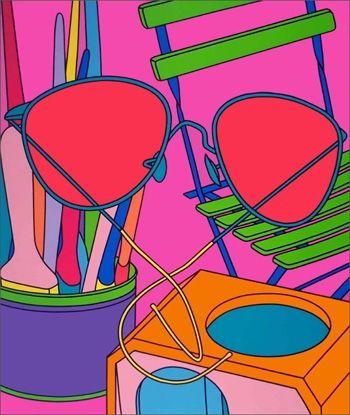 Serigrafia Craig-Martin - Intimate Relations: Sunglasses