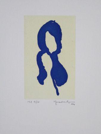 Acquatinta Hernandez Pijuan - Iris Blau I / Blue Iris I