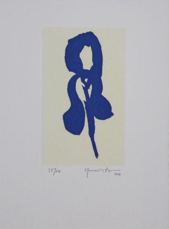 Acquatinta Hernandez Pijuan - Iris Blau Iv / Blue Iris Iv