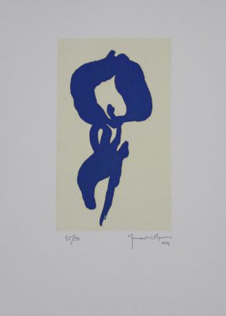Acquatinta Hernandez Pijuan - Iris Blau V / Blue Iris V