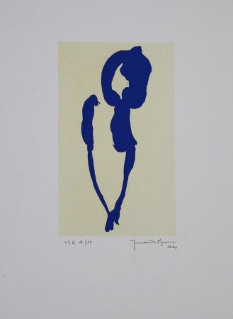 Acquatinta Hernandez Pijuan - Iris Blau Vii / Blue Iris Vii