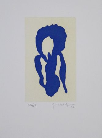 Acquatinta Hernandez Pijuan - Iris Blau X / Blue Iris X