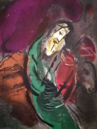 Litografia Chagall - Jérémie