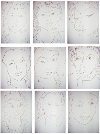 Libro Illustrato Matisse - J.-A. NAU : POÉSIES ANTILLAISE (28 lithographies originales)