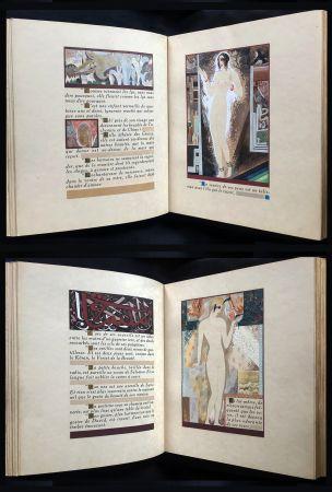 Libro Illustrato Schmied - J.-C. Mardrus : HISTOIRE CHARMANTE DE L'ADOLESCENTE SUCRE D'AMOUR (1927).