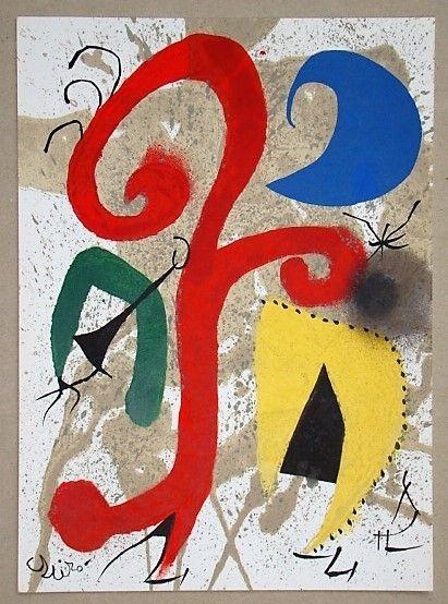 Litografia Miró - Jardin au clair de lune