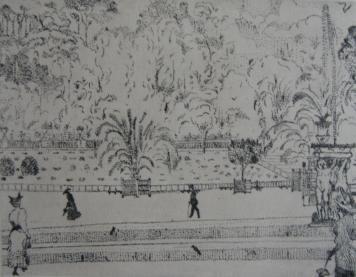 Incisione Vrieslander - Jardin du Luxembourg
