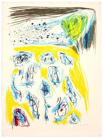 Litografia Jorn - Jaune bleu