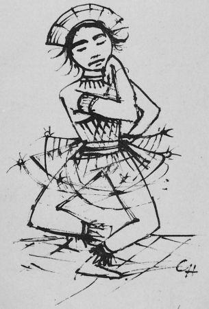 Litografia Hofer - Javanische-Tänzerin