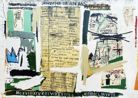 Serigrafia Basquiat - Jawbone of an Ass